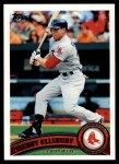 2011 Topps #351  Jacoby Ellsbury  Front Thumbnail
