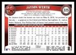 2011 Topps #325  Jayson Werth  Back Thumbnail
