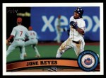 2011 Topps #380  Jose Reyes  Front Thumbnail