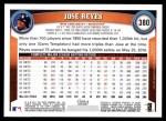 2011 Topps #380  Jose Reyes  Back Thumbnail