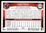 2011 Topps #316  Chris Young  Back Thumbnail