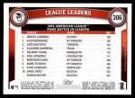 2011 Topps #306   -  Miguel Cabrera / Alex Rodriguez / Jose Bautista AL RBI League Leaders Back Thumbnail