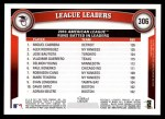 2011 Topps #306   -  Miguel Cabrera / Alex Rodriguez / Jose Bautista AL RBI League Leaders Back Thumbnail