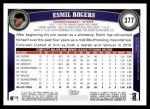 2011 Topps #377  Esmil Rogers  Back Thumbnail