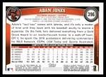 2011 Topps #396  Adam Jones  Back Thumbnail