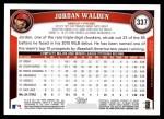 2011 Topps #337  Jordan Walden  Back Thumbnail