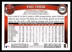 2011 Topps #358  Paul Janish  Back Thumbnail