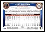 2011 Topps #345  Austin Jackson  Back Thumbnail