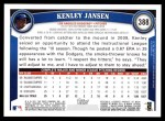 2011 Topps #388  Kenley Jansen  Back Thumbnail