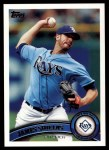 2011 Topps #311  James Shields  Front Thumbnail