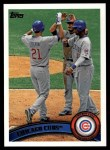2011 Topps #309   Cubs Team Front Thumbnail