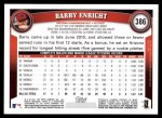 2011 Topps #386  Barry Enright  Back Thumbnail