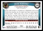 2011 Topps #326  Ozzie Martinez  Back Thumbnail