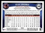 2011 Topps #340  Evan Longoria  Back Thumbnail