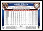 2011 Topps #331  Carlos Guillen  Back Thumbnail