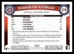 2011 Topps #374   Nationals Team Back Thumbnail