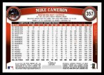 2011 Topps #357  Mike Cameron  Back Thumbnail