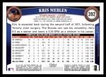 2011 Topps #392  Kris Medlen  Back Thumbnail