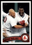 2011 Topps #324   Red Sox Team Front Thumbnail