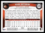2011 Topps #378  Mark Reynolds  Back Thumbnail