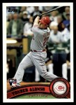 2011 Topps #317  Yonder Alonso  Front Thumbnail