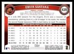2011 Topps #439  Ervin Santana  Back Thumbnail