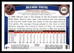 2011 Topps #485  Delmon Young  Back Thumbnail
