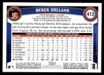 2011 Topps #413  Derek Holland  Back Thumbnail