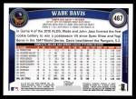 2011 Topps #467  Wade Davis  Back Thumbnail