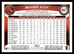 2011 Topps #457  Brandon Allen  Back Thumbnail