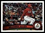 2011 Topps #457  Brandon Allen  Front Thumbnail