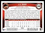 2011 Topps #499  J.A. Happ  Back Thumbnail