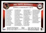 2011 Topps #403  Felix Hernandez  Back Thumbnail