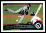 2011 Topps #403  Felix Hernandez  Front Thumbnail