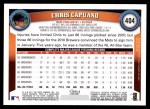 2011 Topps #404  Chris Capuano  Back Thumbnail