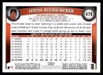 2011 Topps #479  Justin Duchscherer  Back Thumbnail