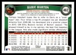 2011 Topps #462  Daric Barton  Back Thumbnail