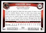 2011 Topps #491  Fernando Abad  Back Thumbnail