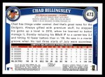 2011 Topps #473  Chad Billingsley  Back Thumbnail