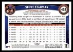 2011 Topps #498  Scott Feldman  Back Thumbnail