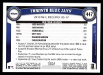 2011 Topps #447   Blue Jays Team Back Thumbnail