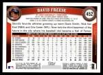 2011 Topps #452  David Freese  Back Thumbnail