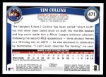 2011 Topps #471  Tim Collins  Back Thumbnail