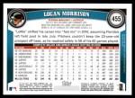 2011 Topps #455  Logan Morrison  Back Thumbnail