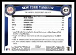 2011 Topps #424   Yankees Team Back Thumbnail
