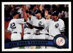 2011 Topps #424   Yankees Team Front Thumbnail