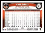 2011 Topps #434  Mark DeRosa  Back Thumbnail