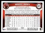 2011 Topps #421  Domonic Brown  Back Thumbnail