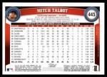 2011 Topps #445  Mitch Talbot  Back Thumbnail