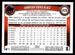 2011 Topps #425  Adrian Gonzalez  Back Thumbnail